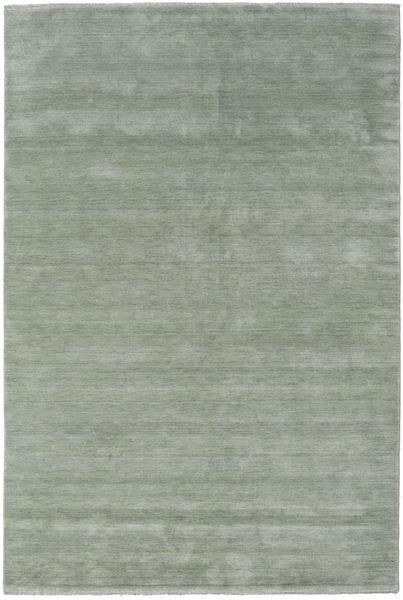 ハンドルーム Fringes - Soft Teal 絨毯 200X300 モダン ライトグリーン/濃いグレー (ウール, インド)