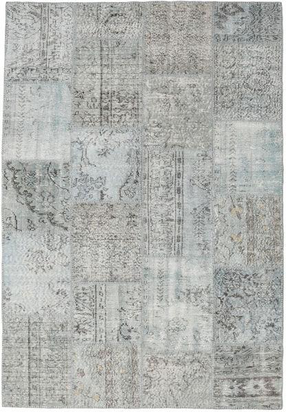 パッチワーク 絨毯 159X231 モダン 手織り 薄い灰色/ライトグリーン (ウール, トルコ)
