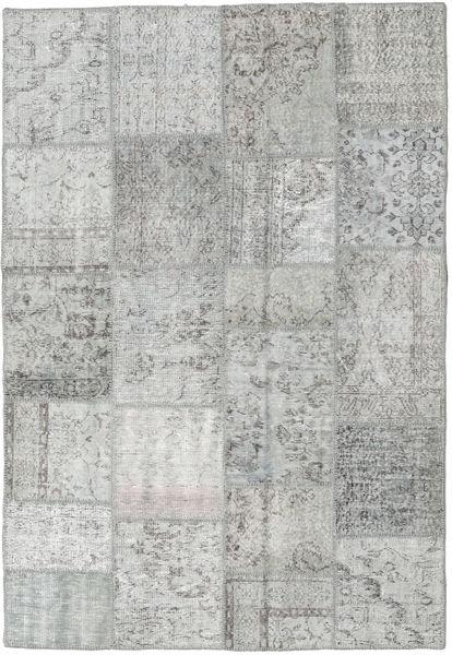 パッチワーク 絨毯 160X233 モダン 手織り 薄い灰色 (ウール, トルコ)