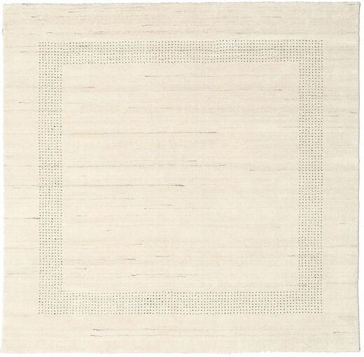 ハンドルーム Gabba - ナチュラル 絨毯 200X200 モダン 正方形 ベージュ (ウール, インド)