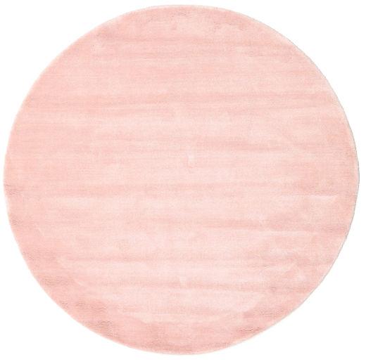 ハンドルーム - ディープラスト 絨毯 Ø 150 モダン ラウンド ライトピンク/ベージュ (ウール, インド)