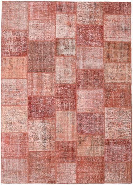 パッチワーク 絨毯 251X350 モダン 手織り 深紅色の/ライトピンク 大きな (ウール, トルコ)