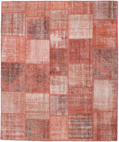 パッチワーク 絨毯 251X300 モダン 手織り ライトピンク/深紅色の 大きな (ウール, トルコ)