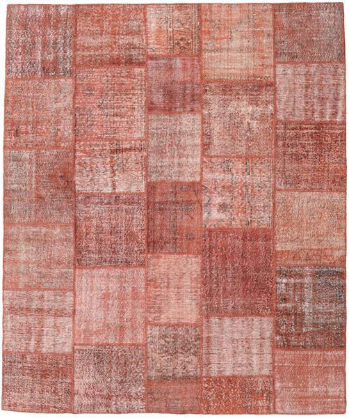 パッチワーク 絨毯 250X298 モダン 手織り ライトピンク/深紅色の 大きな (ウール, トルコ)
