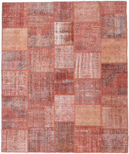 パッチワーク 絨毯 251X302 モダン 手織り 深紅色の/ライトピンク 大きな (ウール, トルコ)