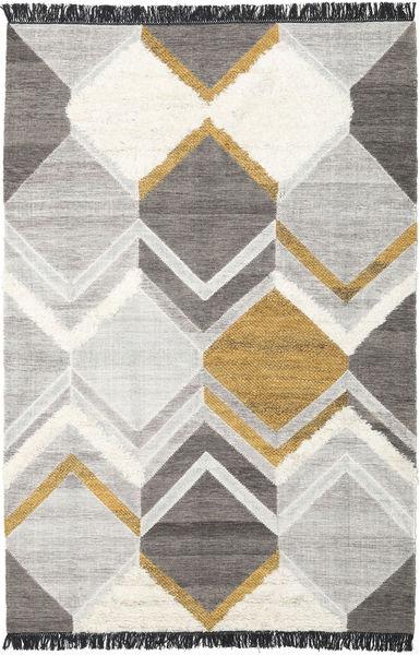 Silvana - ゴールド 絨毯 200X300 モダン 手織り 薄い灰色/濃いグレー (ウール, インド)