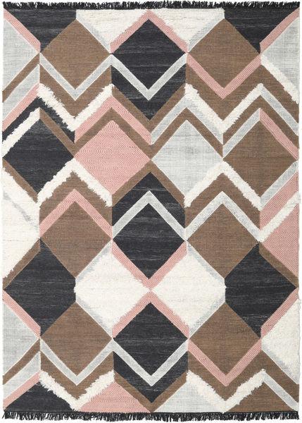 Silvana - Soft ピンク 絨毯 250X350 モダン 手織り 茶/濃いグレー 大きな (ウール, インド)