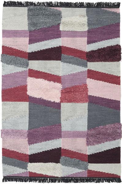 Viola - 紫 絨毯 140X200 モダン 手織り 濃いグレー/薄い灰色 (ウール, インド)