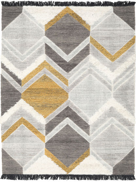 Silvana - ゴールド 絨毯 160X230 モダン 手織り 薄い灰色/暗めのベージュ色の (ウール, インド)