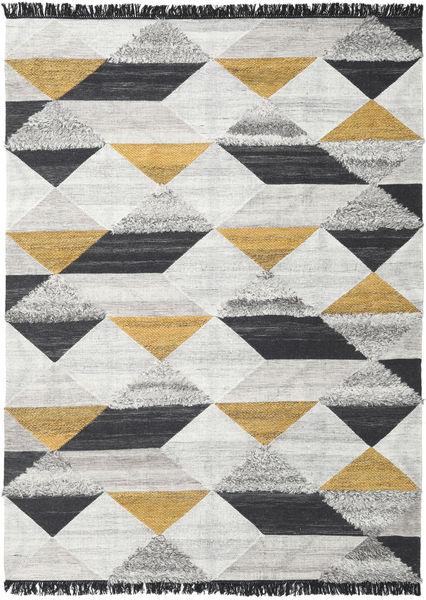 Isha - ゴールド 絨毯 200X300 モダン 手織り 薄い灰色/濃いグレー (ウール, インド)