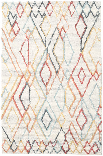 Naima - Multi 絨毯 200X300 モダン 手織り ベージュ/ホワイト/クリーム色 (ウール, インド)