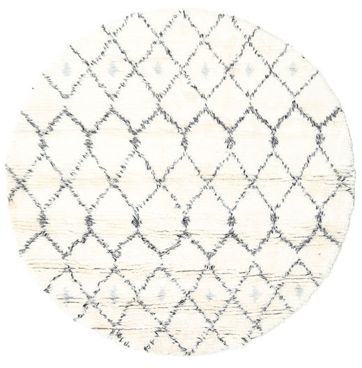 Sauda - ナチュラル グレー 絨毯 Ø 150 モダン 手織り ラウンド ベージュ/ホワイト/クリーム色 (ウール, インド)