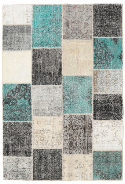 パッチワーク 絨毯 158X233 モダン 手織り ライトグリーン/ベージュ (ウール, トルコ)