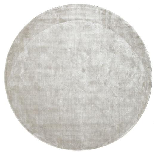 Broadway - シルバー 白 絨毯 Ø 200 モダン ラウンド 薄い灰色 ( インド)