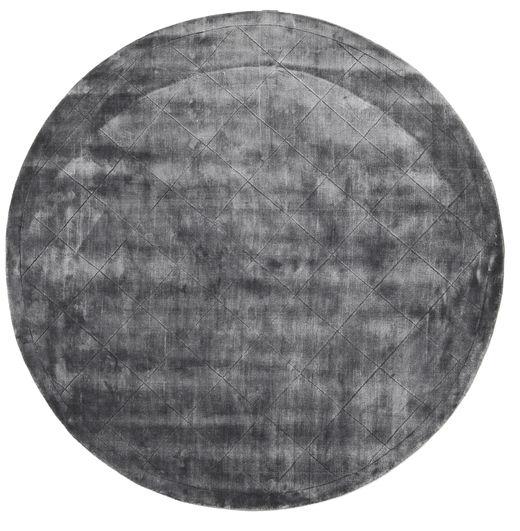 Brooklyn - ストーミーグレー 絨毯 Ø 300 モダン ラウンド 濃いグレー/薄い灰色 大きな ( インド)