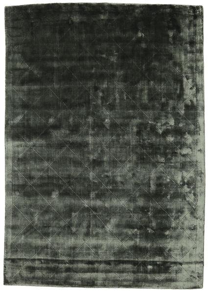 Brooklyn - モスグリーン 絨毯 140X200 モダン 深緑色の/深緑色の ( インド)