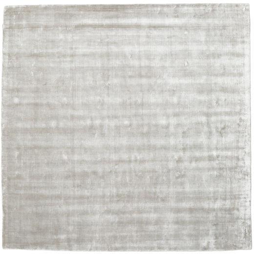 Broadway - シルバー 白 絨毯 250X250 モダン 正方形 薄い灰色 大きな ( インド)