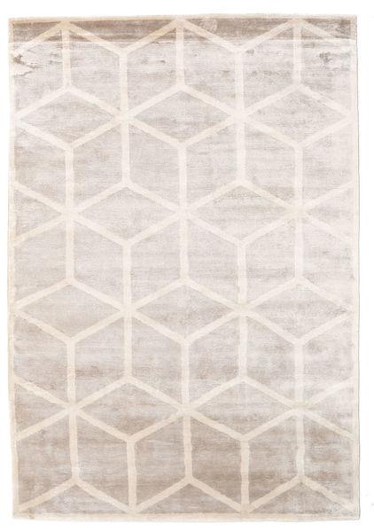 Facets 絨毯 250X350 モダン 手織り 薄い灰色/ホワイト/クリーム色 大きな ( インド)