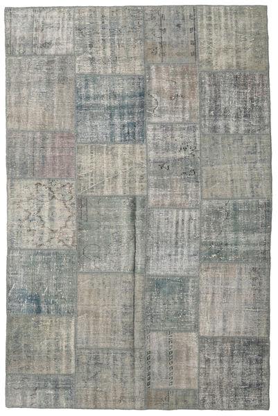 パッチワーク 絨毯 200X303 モダン 手織り 薄い灰色/深緑色の (ウール, トルコ)