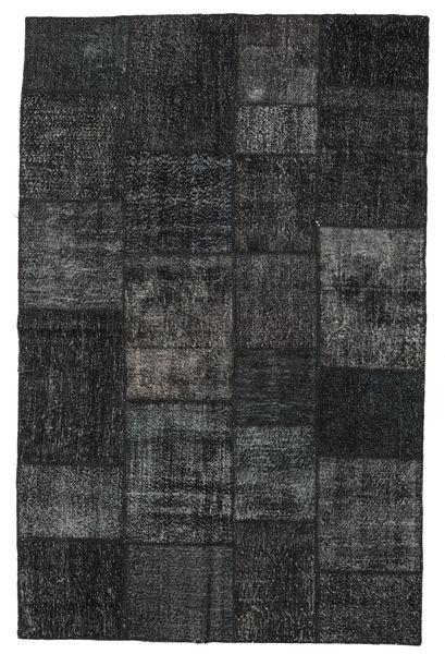 パッチワーク 絨毯 196X304 モダン 手織り 黒/濃いグレー (ウール, トルコ)