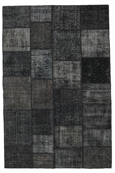 パッチワーク 絨毯 196X301 モダン 手織り 黒/濃いグレー (ウール, トルコ)