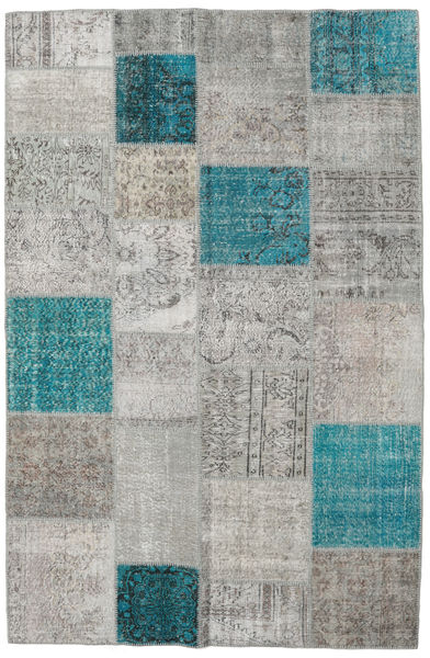 パッチワーク 絨毯 196X301 モダン 手織り 薄い灰色/ターコイズブルー (ウール, トルコ)