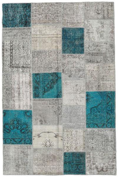 パッチワーク 絨毯 197X303 モダン 手織り 薄い灰色/ターコイズ (ウール, トルコ)
