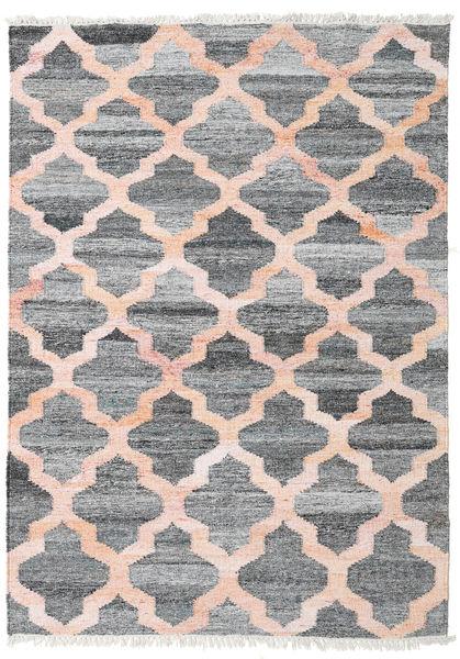 屋外カーペット Kathi - グレー/Coral 絨毯 140X200 モダン 手織り 薄い灰色/ライトピンク ( インド)
