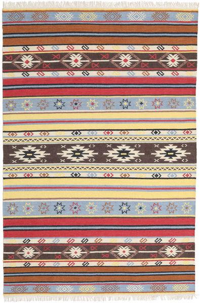 キリム - Navaja - Navaja 絨毯 200X300 モダン 手織り ベージュ/濃い茶色 (ウール, インド)