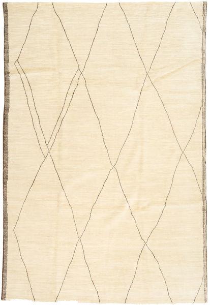 アフガン Exclusive 絨毯 200X300 モダン 手織り ベージュ/暗めのベージュ色の (ウール, アフガニスタン)