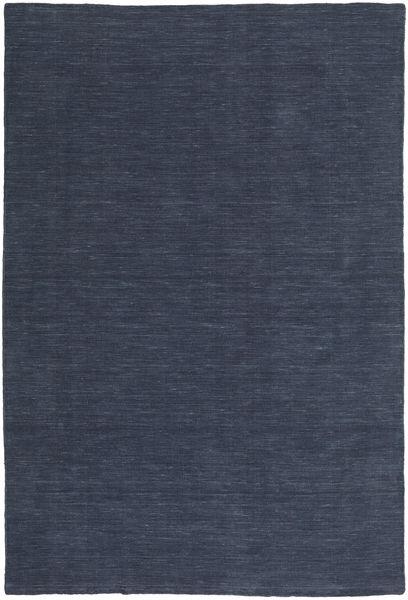 キリム ルーム - Denim Blue 絨毯 200X300 モダン 手織り 紺色の/青 (ウール, インド)