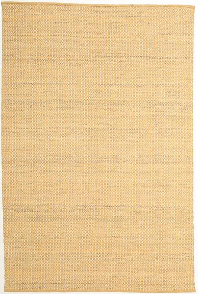 Alva - ダーク _Gold/白 絨毯 200X300 モダン 手織り 暗めのベージュ色の/薄茶色 (ウール, インド)