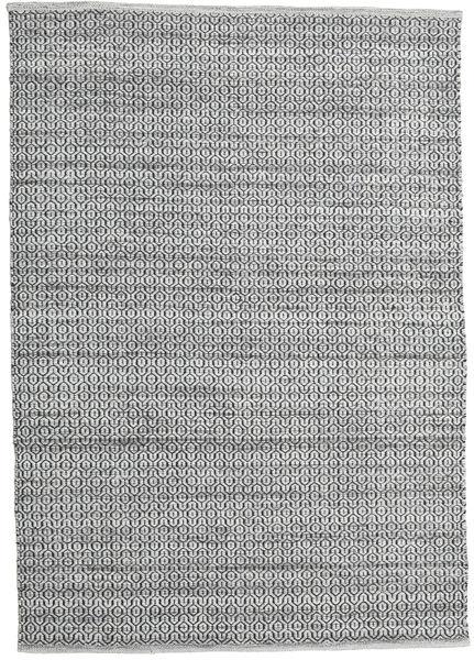Alva - グレー/黒 絨毯 160X230 モダン 手織り 薄い灰色/濃いグレー (ウール, インド)