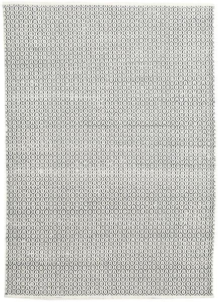 Alva - 白/黒 絨毯 160X230 モダン 手織り 薄い灰色/濃いグレー (ウール, インド)