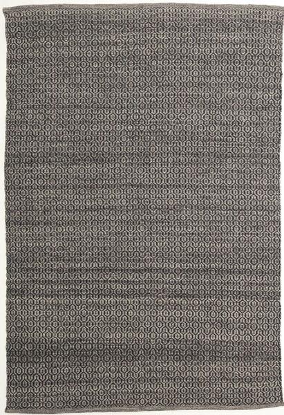 Alva - 茶/黒 絨毯 160X230 モダン 手織り 濃いグレー/薄い灰色 (ウール, インド)