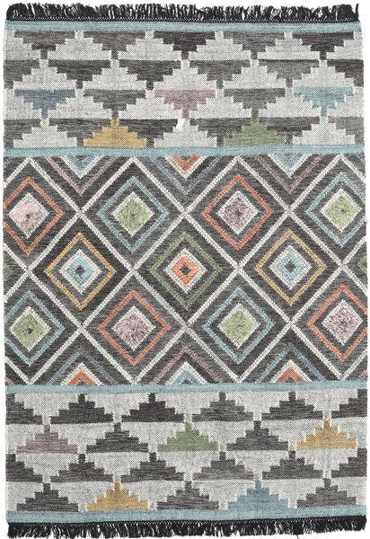 Iris 絨毯 160X230 モダン 手織り 濃いグレー/薄い灰色 (ウール, インド)