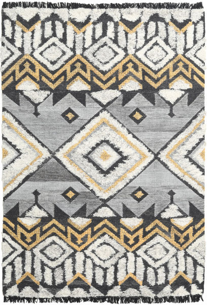 Deco 絨毯 160X230 モダン 手織り 薄い灰色/暗めのベージュ色の (ウール, インド)