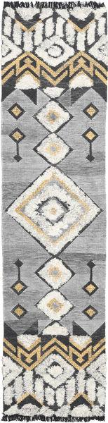 Deco 絨毯 80X350 モダン 手織り 廊下 カーペット 薄い灰色/暗めのベージュ色の (ウール, インド)