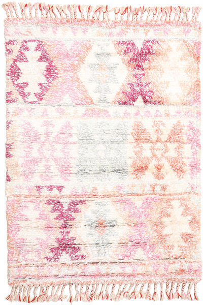 Märta - ピンク 絨毯 120X180 モダン 手織り ベージュ/ライトピンク (ウール, インド)