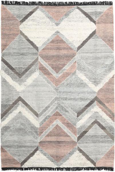 Silvana 絨毯 200X300 モダン 手織り 薄い灰色/暗めのベージュ色の (ウール, インド)
