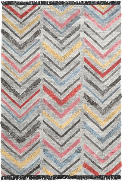 Zigzag 絨毯 200X300 モダン 手織り 薄い灰色/濃いグレー (ウール, インド)