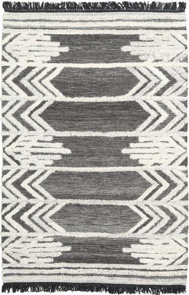 Arrow 絨毯 120X180 モダン 手織り 濃いグレー/ベージュ/薄い灰色 (ウール, インド)