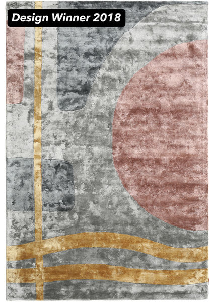 Urban Lake - 2018 絨毯 200X300 モダン 茶/濃いグレー ( インド)