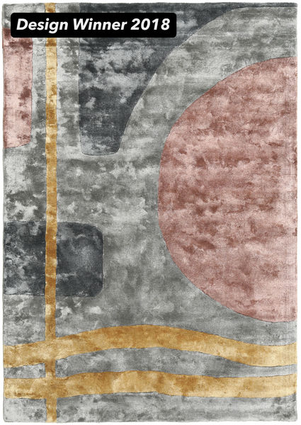 Urban Lake - 2018 絨毯 160X230 モダン 薄い灰色/茶 ( インド)