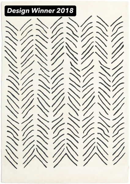 Scandic Lines - 2018 絨毯 160X230 モダン ベージュ/濃いグレー (ウール, インド)