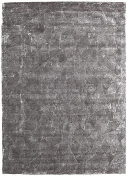 Crystal - ソフトグレー 絨毯 140X200 モダン 薄い灰色/濃い茶色 ( インド)