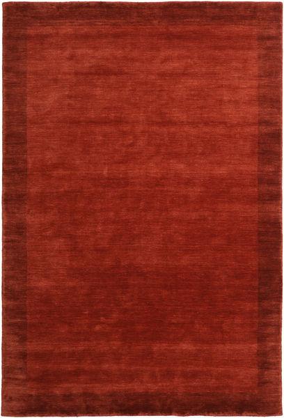 ハンドルーム Frame - 錆色 絨毯 200X300 モダン 錆色/赤 (ウール, インド)
