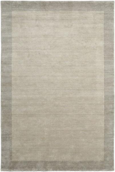ハンドルーム Frame - Greige 絨毯 200X300 モダン 薄い灰色 (ウール, インド)