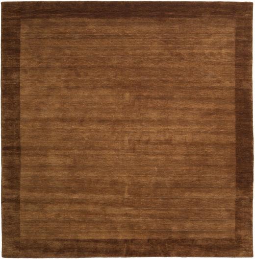 ハンドルーム Frame - 茶 絨毯 300X300 モダン 正方形 茶/濃い茶色 大きな (ウール, インド)