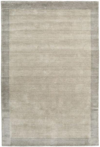 ハンドルーム Frame - Greige 絨毯 160X230 モダン 薄い灰色 (ウール, インド)